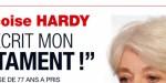 Françoise Hardy a écrit son testament - son angoissante prédiction