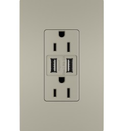 radiant usb chargers with duplex 15a tamper resistant outlets nickel legrand [ 3000 x 3600 Pixel ]