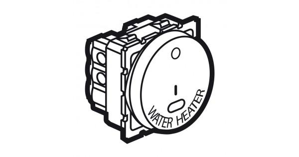 1-way double pole switch Arteor- ind.+WATER HEATER mark
