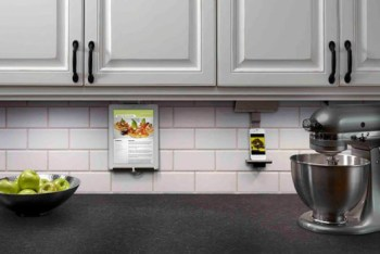 iPad kitchen stand  An under cabinet tablet mount from