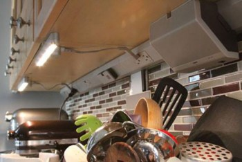 Under cabinet Modular Track for Lighting from the adorne