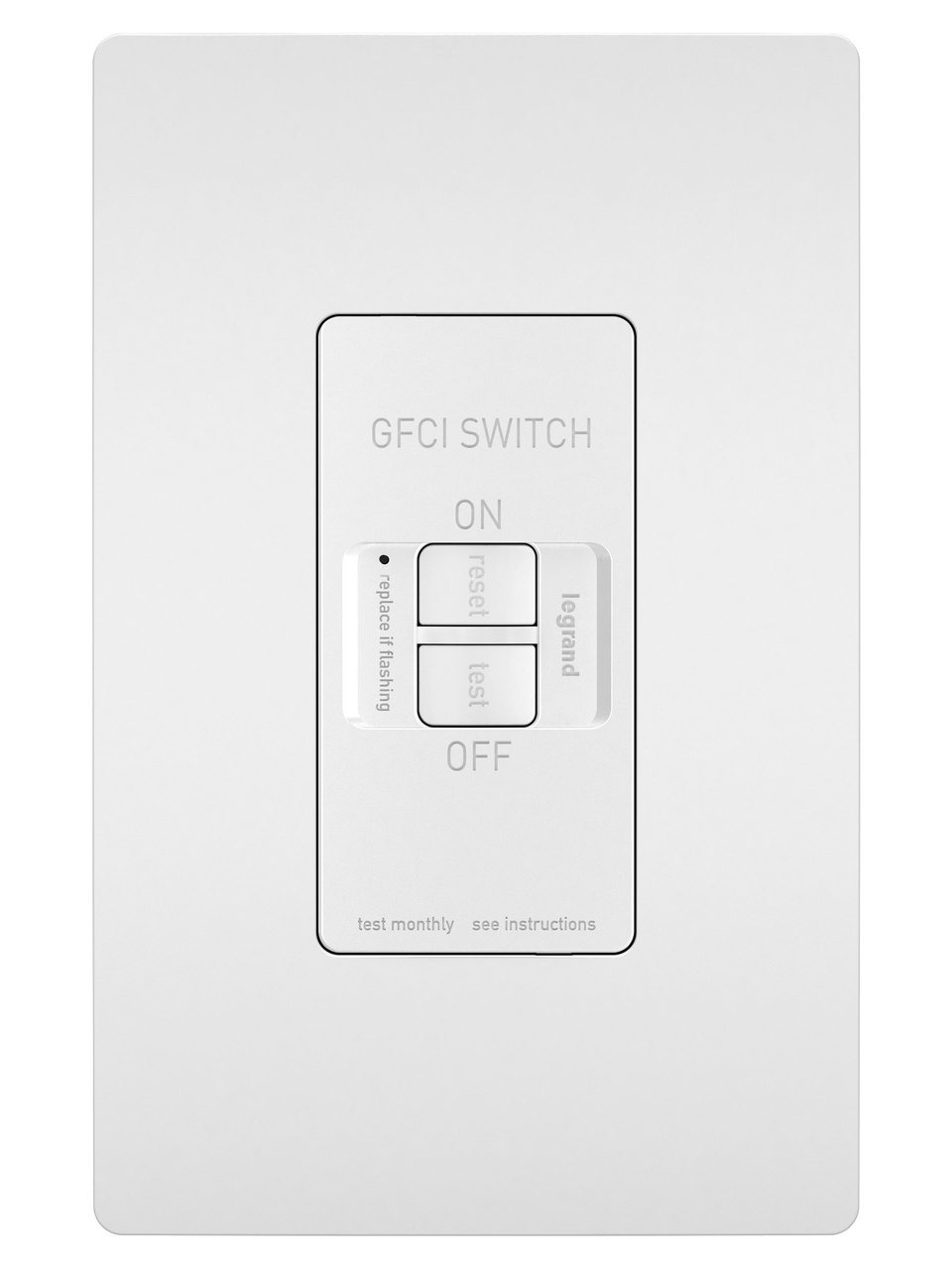 gfci outlet with switch wiring diagram murray riding lawn mower ignition outlets by legrand spec grade dead front 20a self test receptacle white