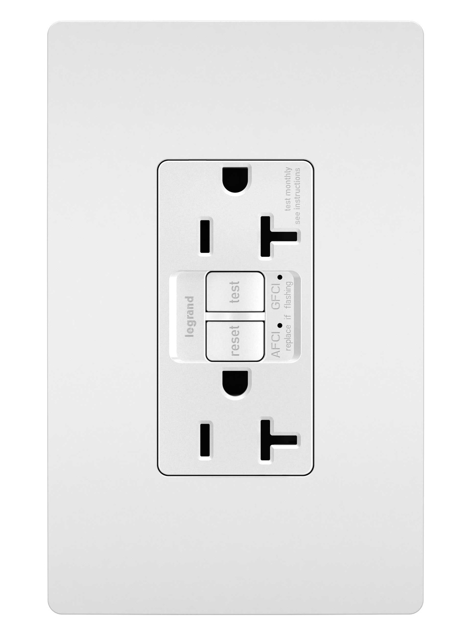 medium resolution of dual function tamper resistant 20a afci gfci receptacle white