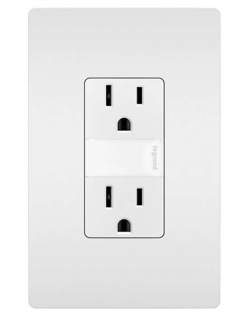 small resolution of night light with two 15a tamper resistant outlets white