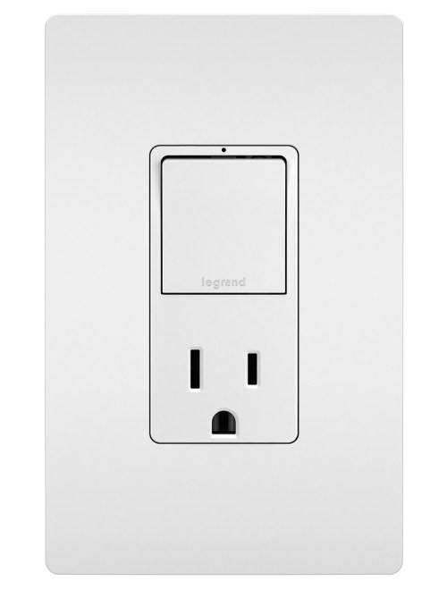 small resolution of radiant rcd38trw combo single pole 3 way switch 15a tr outlet white legrand