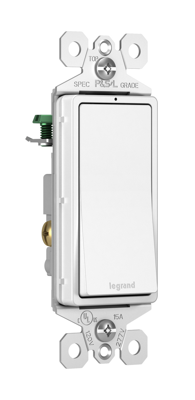 small resolution of radiant 15a single pole lighted switch white legrand rh legrand us legrand switch wiring instructions le