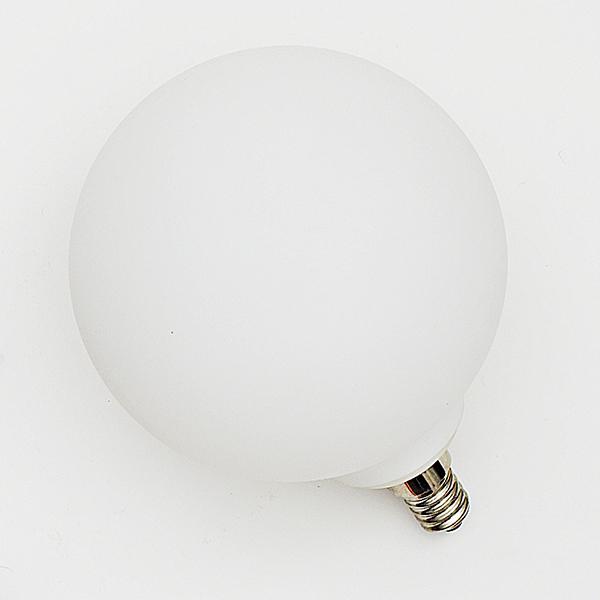Ampoule décorative à globe opalin