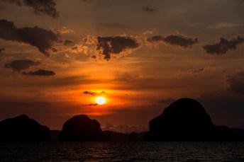 Coucher de soleil sur Tupkaek