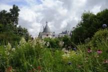 Vue du château depuis les jardins