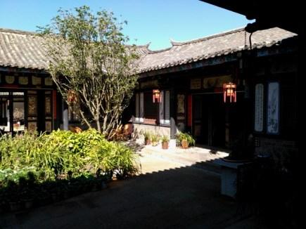 L'une des cours carrées de la maison Zhu