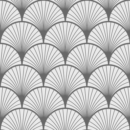 tapis vinyle personnalise modele art deco seigaiha