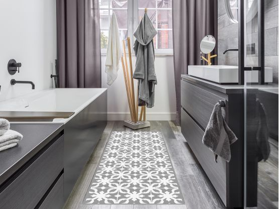 tapis vinyle castiglione gris