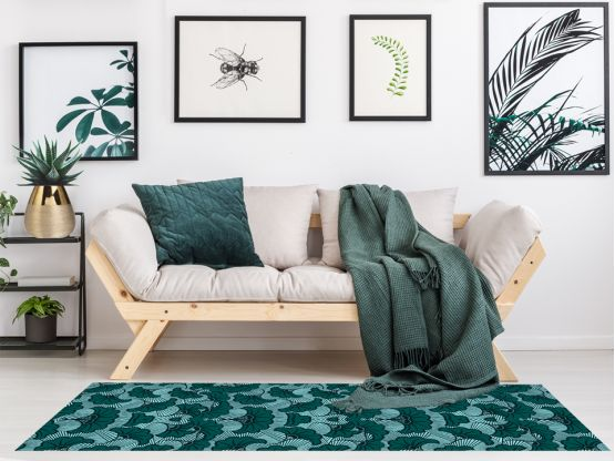 tapis vinyle wax eucalyptus