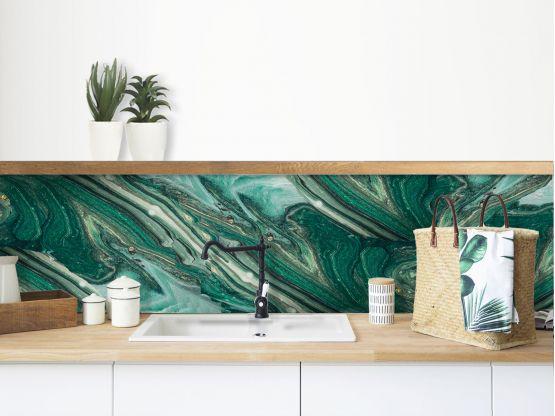 credence adhesive marbre vert