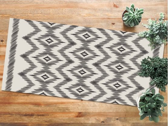 tapis vinyle ikat