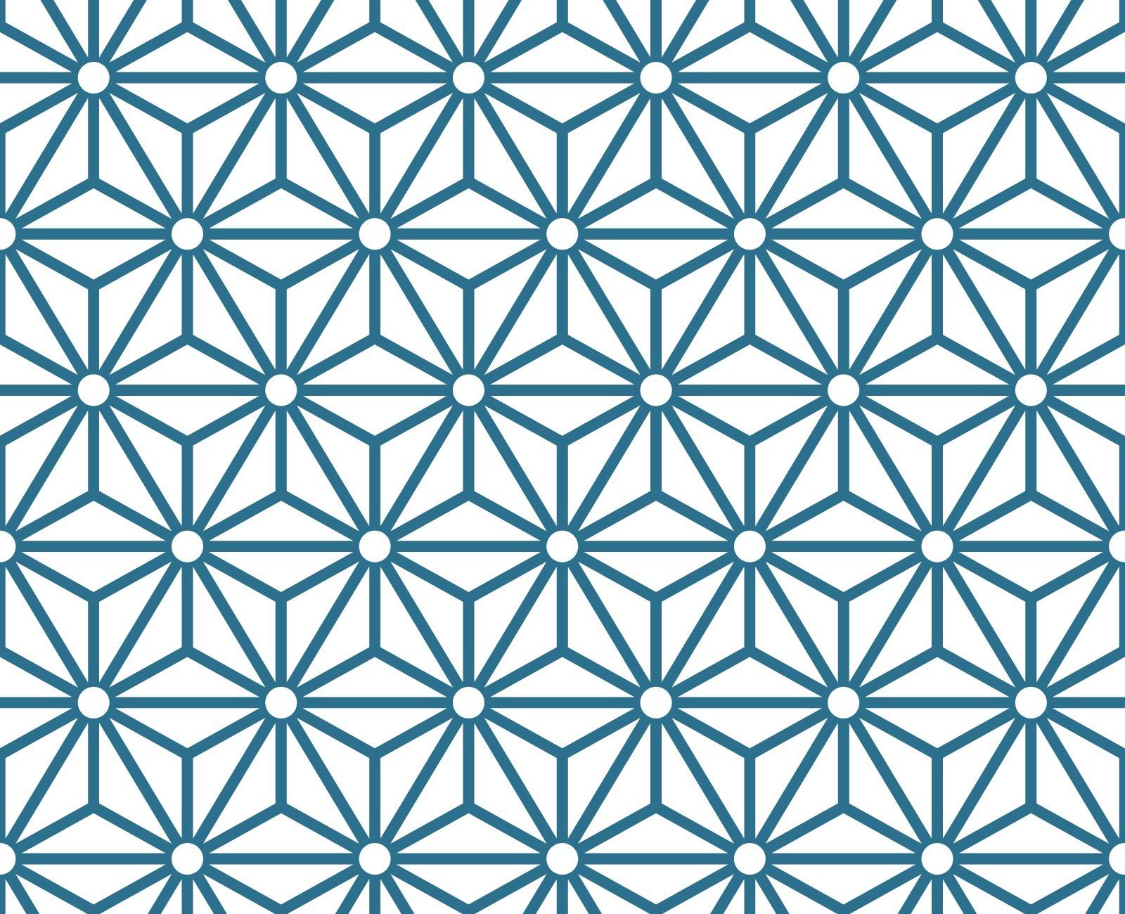 Papier peint adhsif  motifs gomtriques modle Sterling bleu