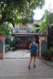 Outside Big Lyna's Villa