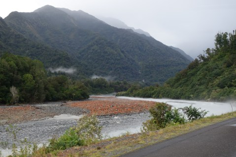 Misty morning river