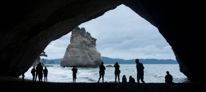 Hot water beach et Cathedral Cove
