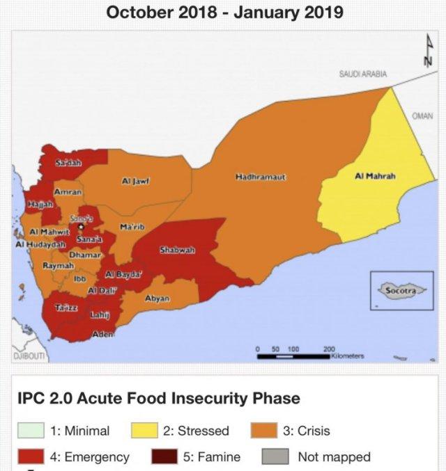 Yémen – Il a fallu 200 000 morts et le scandale Khashoggi pour que les États-Unis appellent enfin à des négociations dans Proche Moyen Orient yemenfaminemap201810-c314d