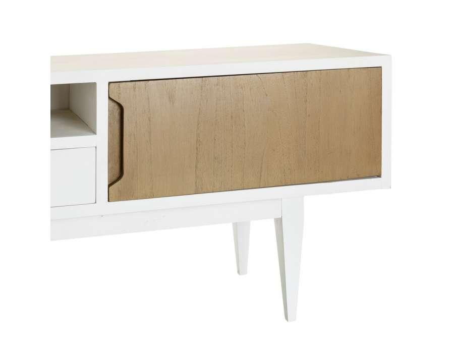 Meubles tv maison du monde meuble tv blanc lise uac with for Petit meuble maison du monde