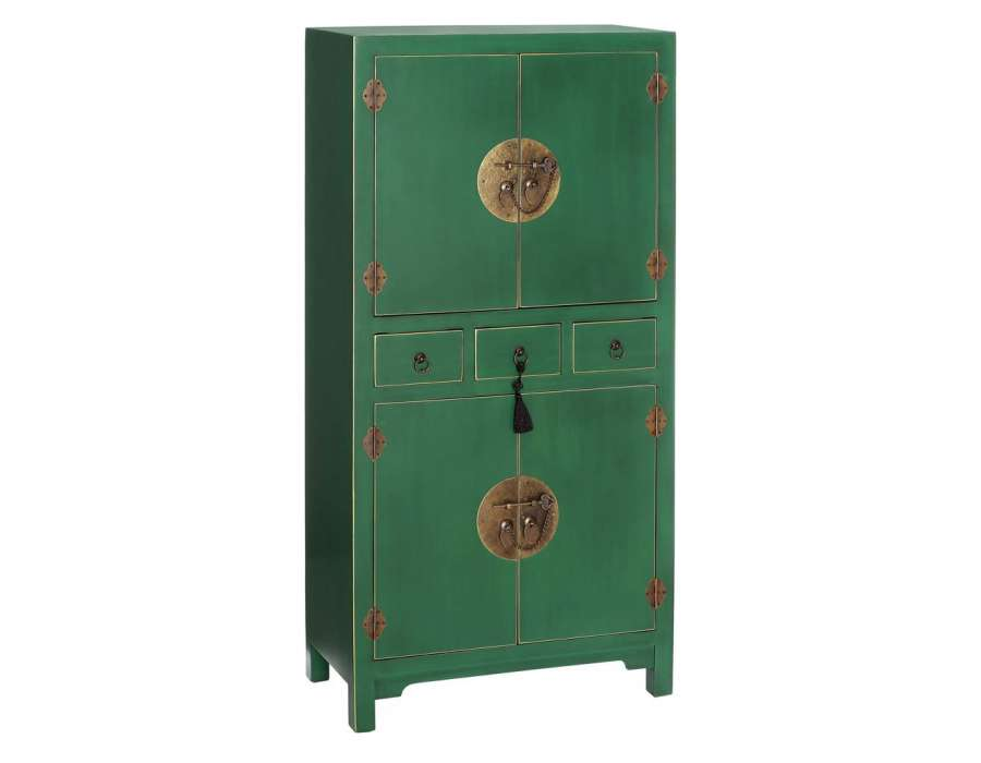 Armoire Verte Style Chinois Pour Une Chambre