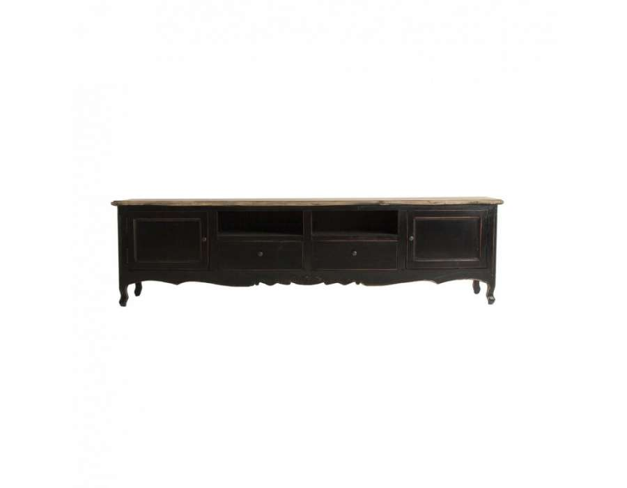 meuble tele baroque noir vical home