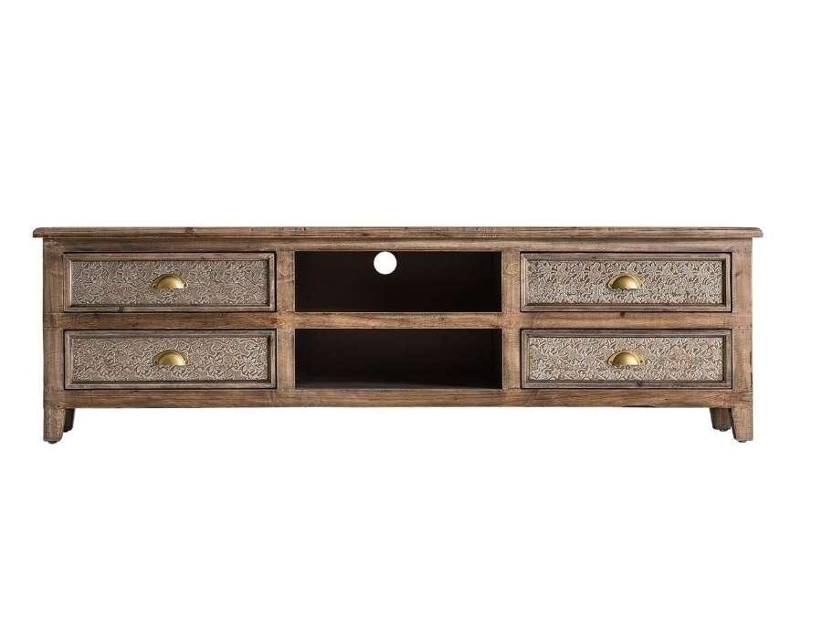 meuble tv en bois ceruse oriental silver
