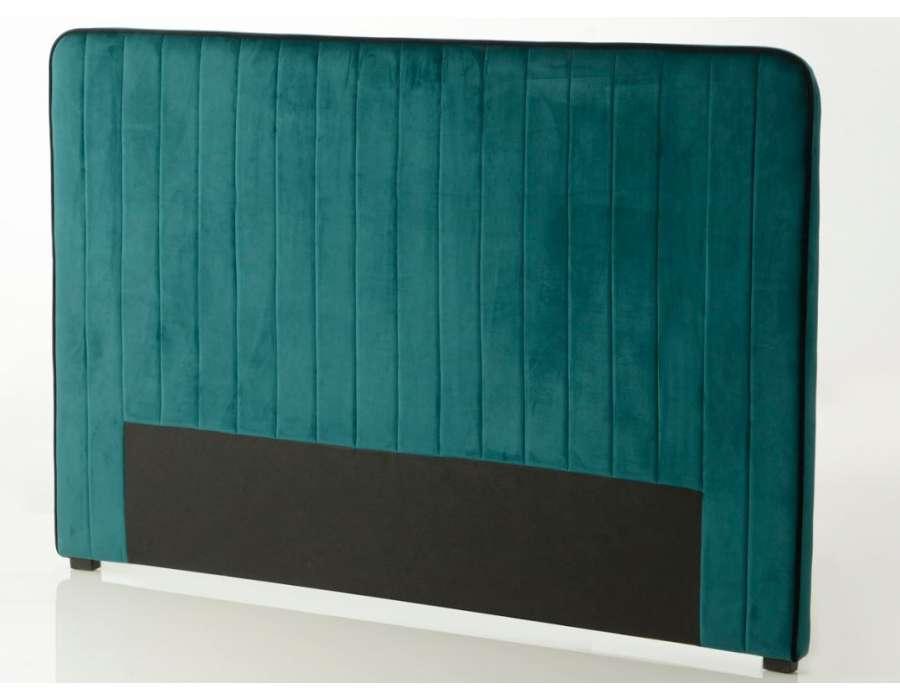 tete de lit bleue canard de 180 cm