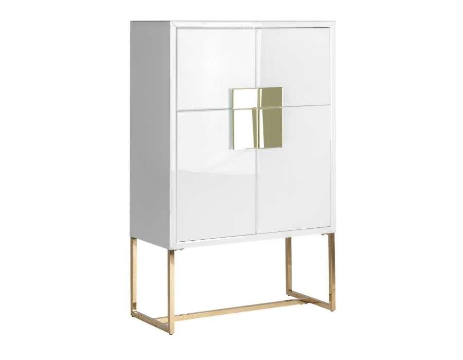 armoire 4 portes blanche chic
