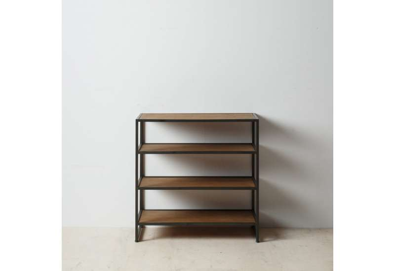 etagere basse margot en bois et metal