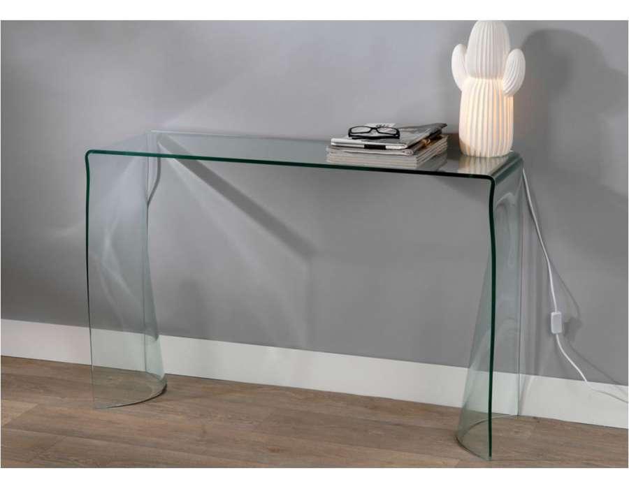 Petite console en verre