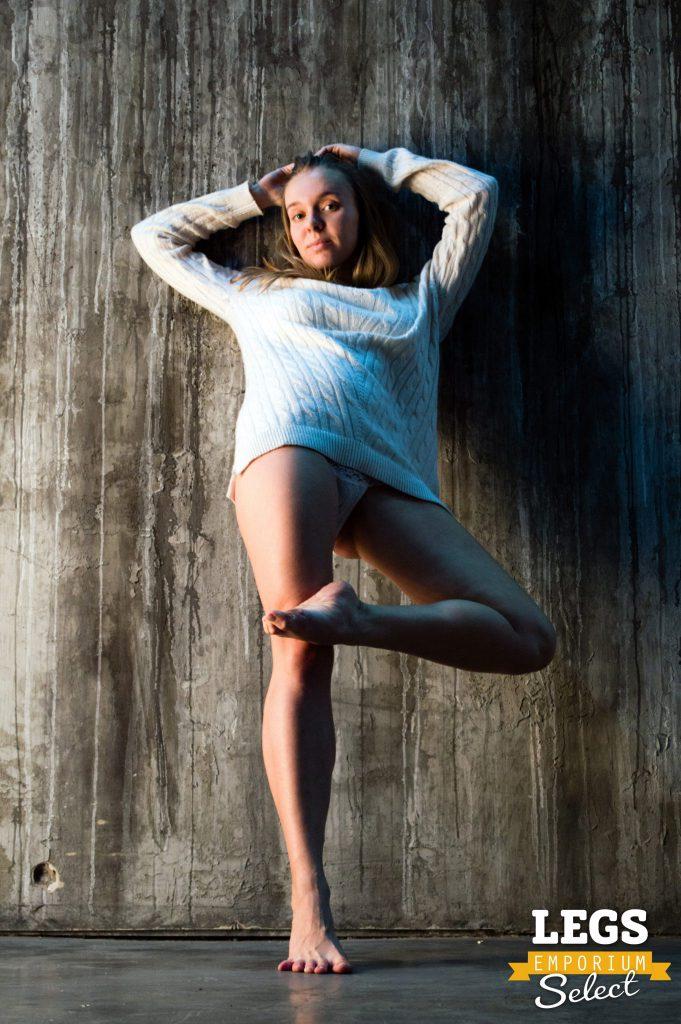 Iryna  Leggy Angel in a Sweater Dress  Legs Emporium