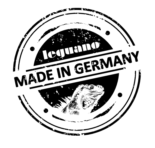 les chaussures minimalistes leguano sont fabriquées en Allemagne logo marque iguane