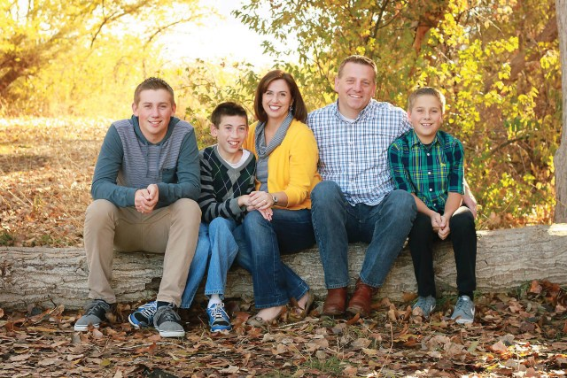 Lehi City council member Paige Albrecht and her family.