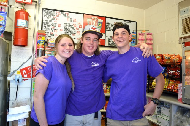 Lehi teens working the concessions at Vets Park. Photo: Nicole Kunze