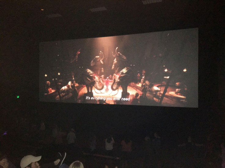 Thanksgiving Point Megaplex Theatres had a special sing-a-long showing of The Greatest Showman