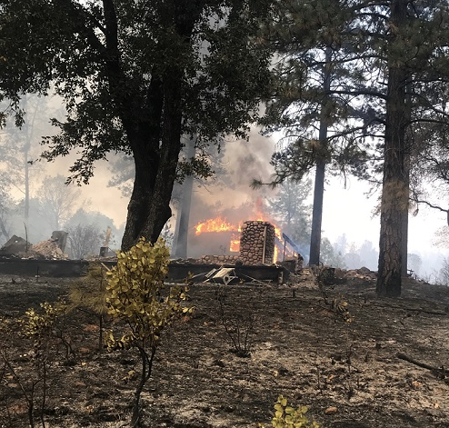 Three Lehi firefighters battle uncontrolled fires in Paradise, Ca. The Lehi team joined forces with 180 other Utah firefighters who responded to the call from help from California. I Courtesy Lehi Fire Department