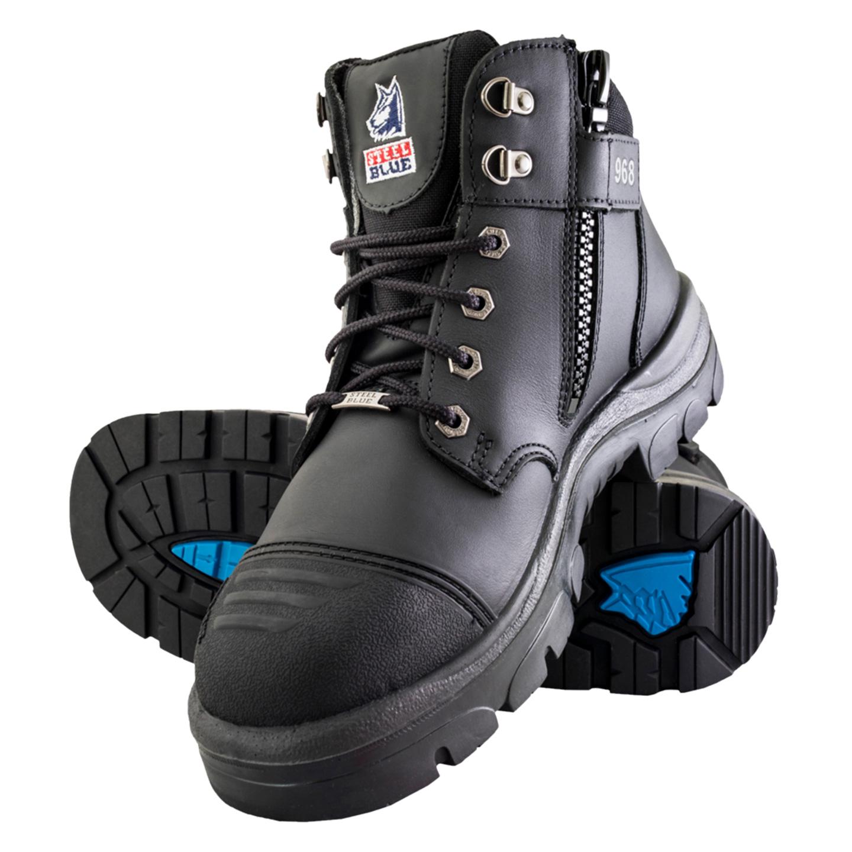 2fd5d7bdffa Steel Toe Side Zip Work Boots - Usefulresults