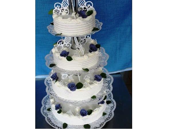 Hochzeitstorte Blau Weiss  Hochzeit