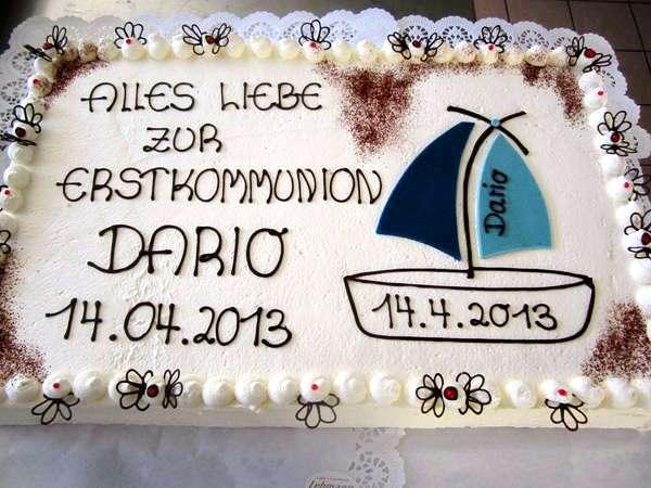 Bilder mit Torten zur Kommunion  Taufe  Konditorei Cafe