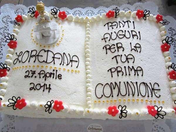 Bilder mit Torten zur Kommunion  Taufe  Konditorei Cafe Lehmann