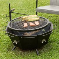 Backyard Fire Pit Grill, Grilling