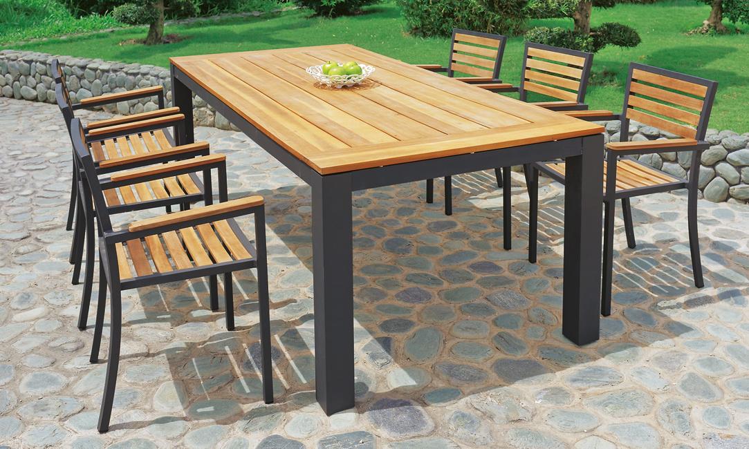 table et chaises de jardin banc de