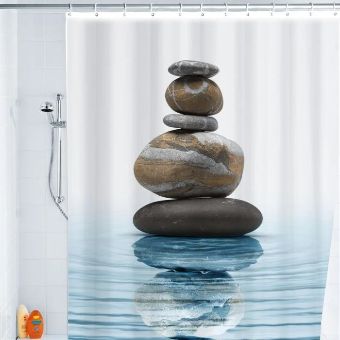 rideau de douche design zen meditation