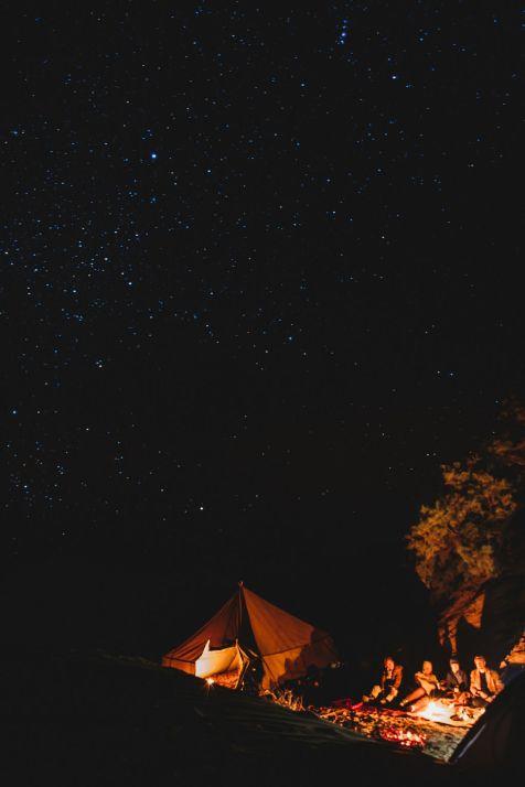 Xiomara Bender: Camp unter freiem Himmel in der ersten Nacht © Xiomara Bender