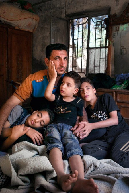 "Jamal was a General in the Iraqi army for five years. In March 2018, he was gunned down in the stomach by Daesh and was found on a roadside by Iraqi troops. ""Many people see us Iraqi men as fighters, as military men. Yes I'm fighting for my country but I'm also a father and I'm fighting for my children, for peace""."