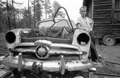 Southern Poverty, Savannah, Ga., 1967. A tiny, isolated, poor community located not far away from Savannah's wealthiest parts. It was reported that families here suffered from five generations of inbreeding