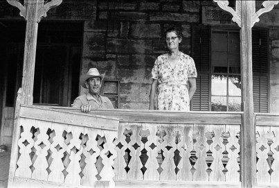 Edwin and Paula Rausch, brother and sister who lived in the stone house built by their grandfather