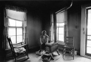 Grimes County, Texas, 1972. Coot, Willie Buckhannon' wife in the living room of their house